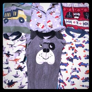 Other - Six used footsie pajamas except one